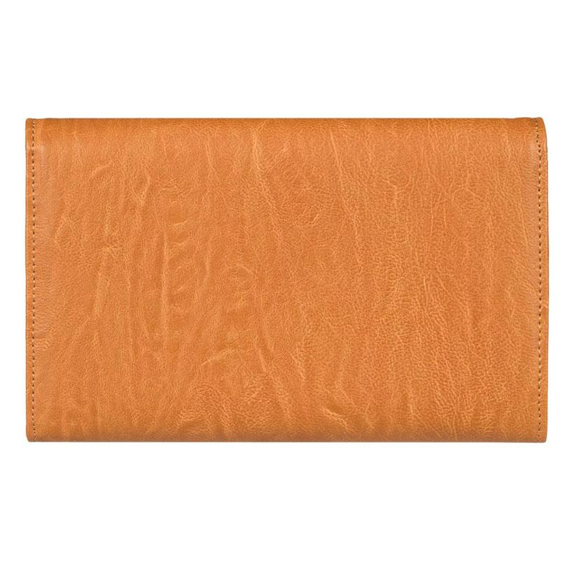 roxy pink motel faux leather wallet back view womens wallets camel erjaa03400-nlf0