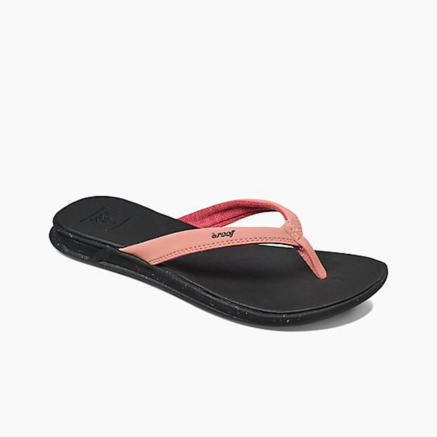 reef Rover Catch Pop Flip Flops side view Womens Flip Flops black/coral rf0a3feq-rca