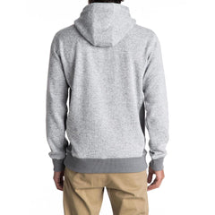 quicksilver Keller Hood back view  Mens Pullover Hoodies light grey eqyft03660-sgrh