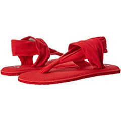 sanuk Yoga Sling 2 Specrum WO side view Womens Fashion Sandals red 1020273-toma