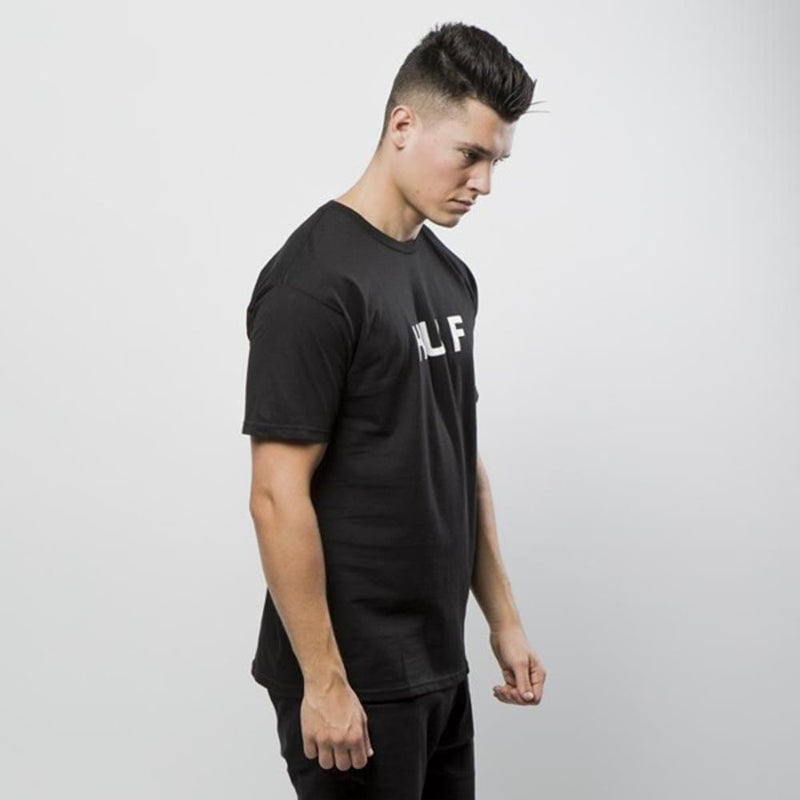 huf Original Logo Tee side view Mens T-Shirts Short Sleeve black tsbsc1111