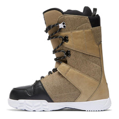 dc phase side view Mens Lace Snowbaord Boots tan