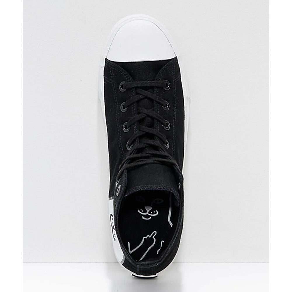 ripndip nerm high tops top view Mens High Tops black