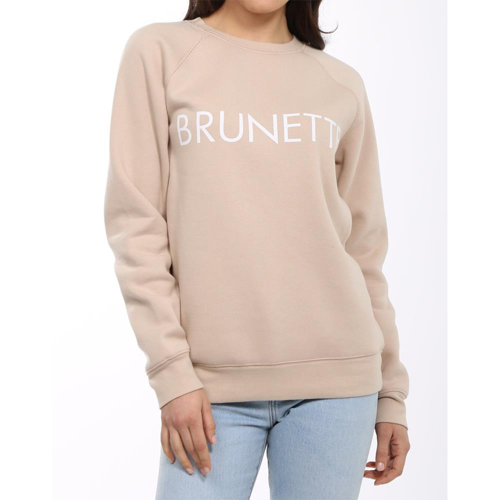 Brunette the label, brunette crew, sweatshirt, womens sweatshirts, toasted almond, BTLF002