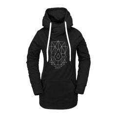 h2452006-blk Volcom Costus Pullover Fleece front view black
