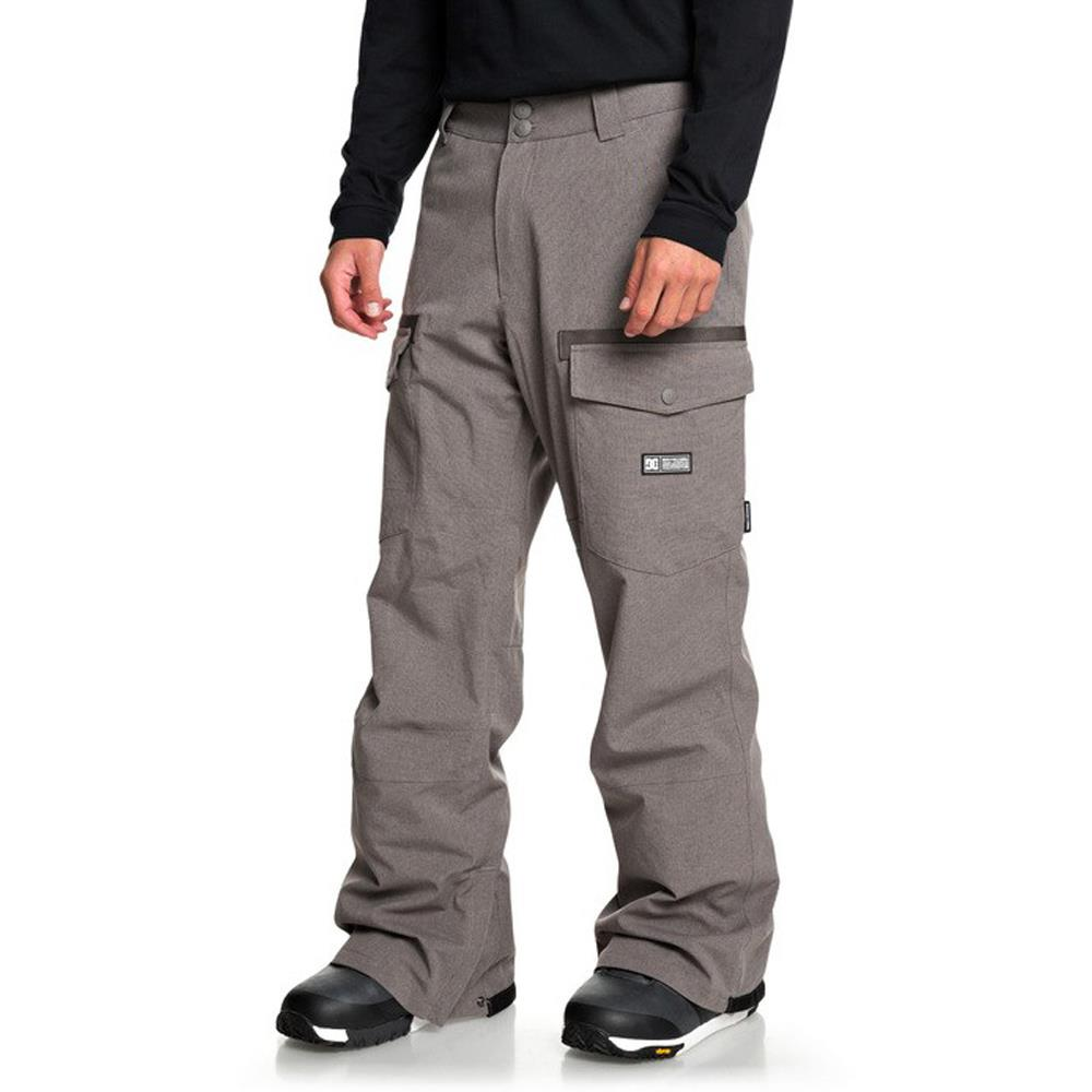 edytp03045-clm0 DC Code Mens Snow Pants dark gull gray side1 view