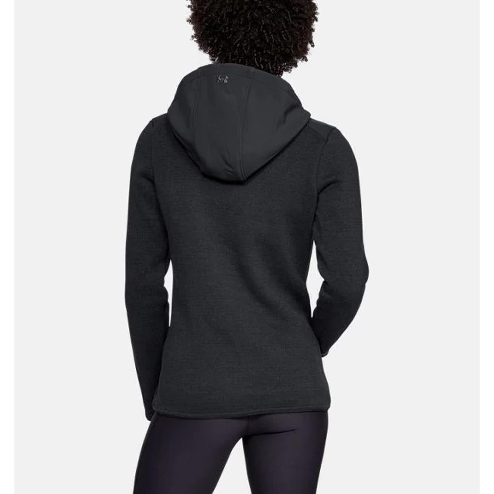 1316282-001, Black, Under Armour, Wintersweet hoodie, Womens Zip Up Hoodies, Tech Gear, Fall 2019, Back View