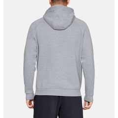 1329745-035, Grey, Steel Light Heather, Rival Fleece Box Hoodie, Mens Pullover Hoodies, Fall 2019, Back View