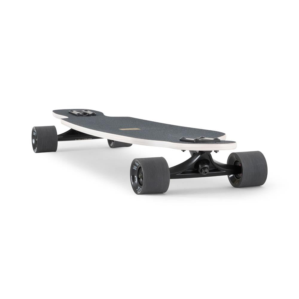120CO-FRBA38BN, LANDYACHTZ, WHITE, GOLD, BATTLE AXE BENGAL COMPLETE, LONGBOARD COMPLETE, DROP THROUGH TRUCKS COMPLETE, SPRING 2020