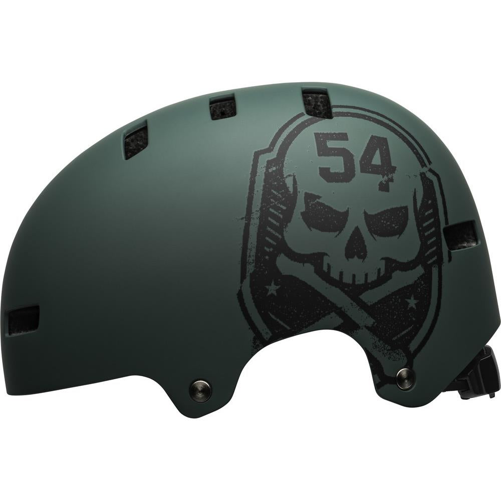 BE-7113911, MAT GREEN/'SKULL, GREEN, BELL LOCAL HELEMT