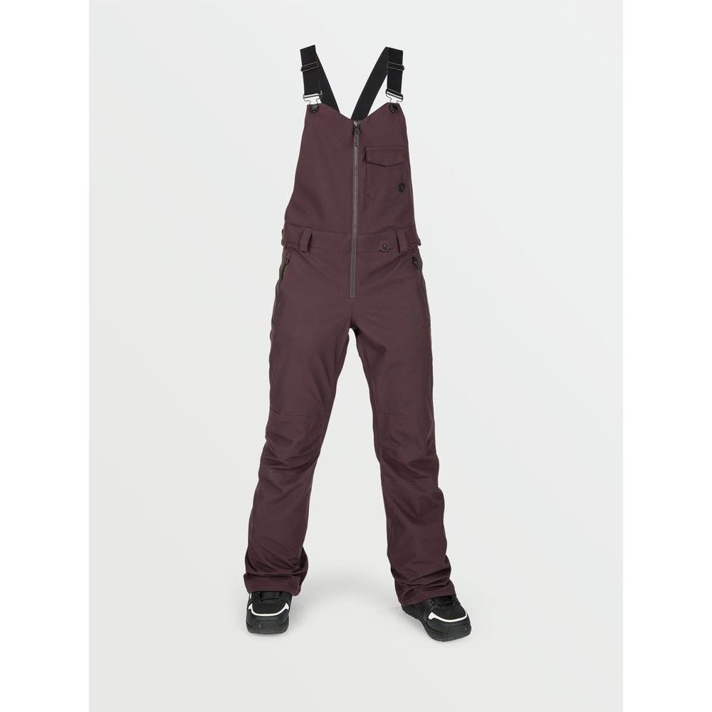 H1352103-BRD, Black/Red, Volcom, Swift Bib Overalls, Womens Snowpants,