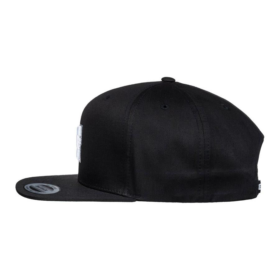 dc snappy snapback hat mens side view mens hats black