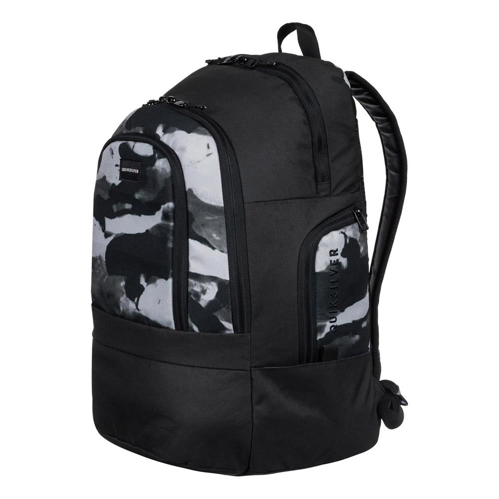 quicksilver 1969 Special side view School Backpack black/white eqybp03424-kzm0