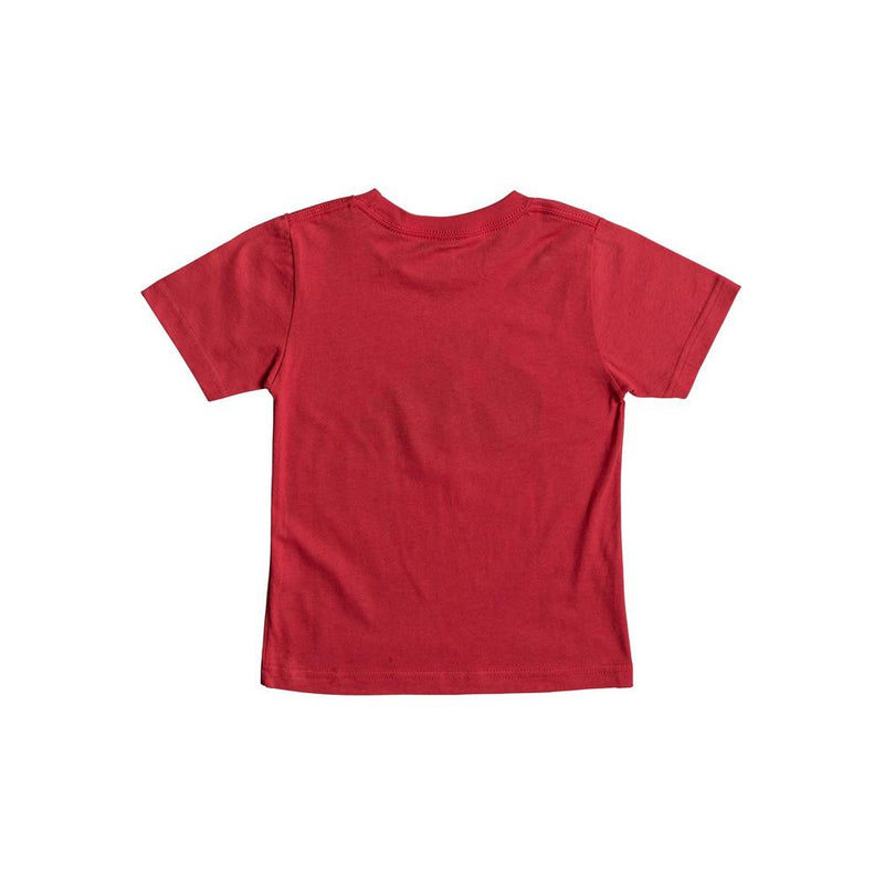 quicksilver Wax Head Boy Tee back view Boys Short Sleeve T-Shirts red aqkzt03275-rqr0