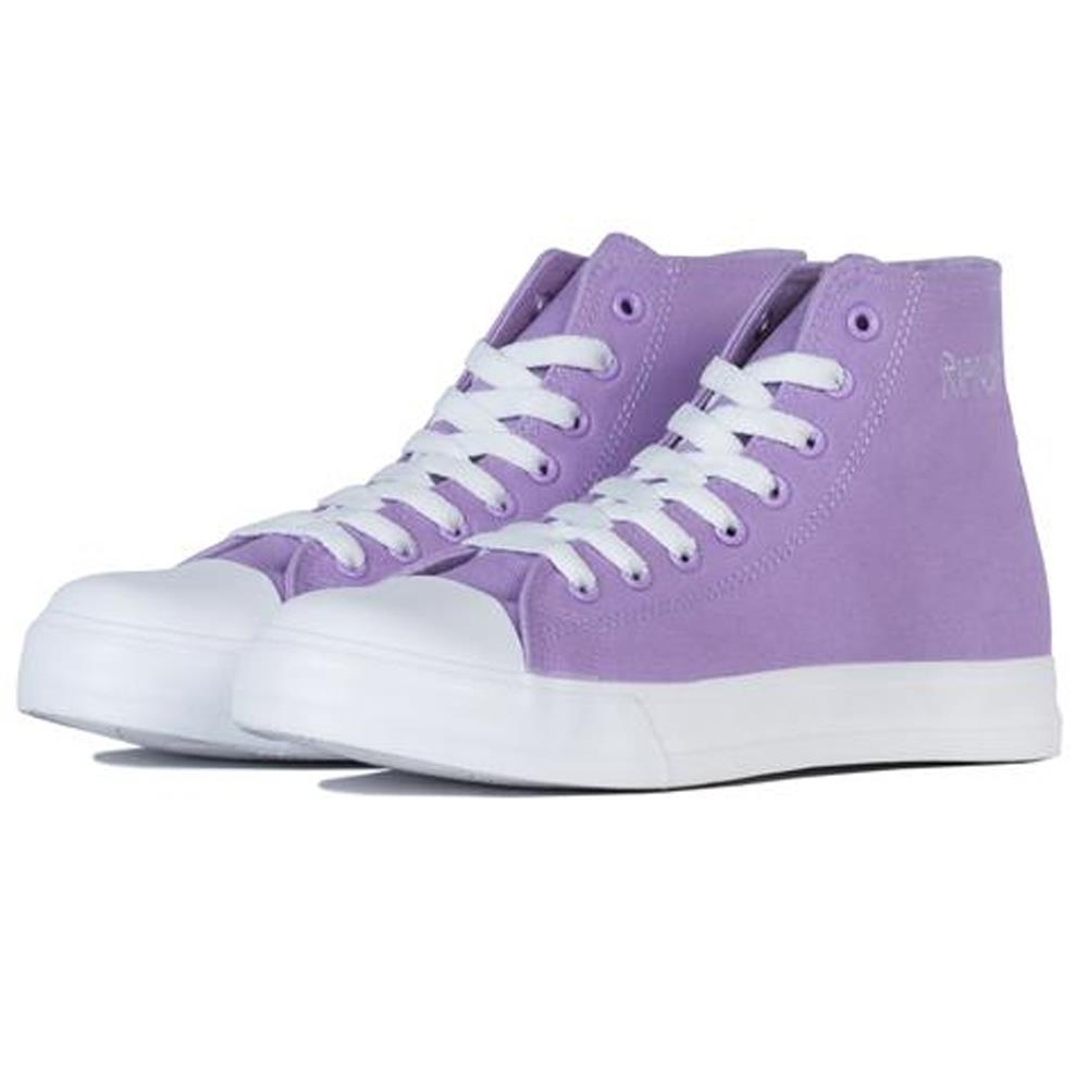 ripndip nerm high tops side view Mens High Tops light purple