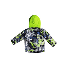 quicksilver little mission jacket back view Boys Snowboard Jacket green