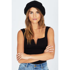 AMUSE SOCIETY MARIN BERET OVERALL VIEW WOMENS FASHION HATS BLACK