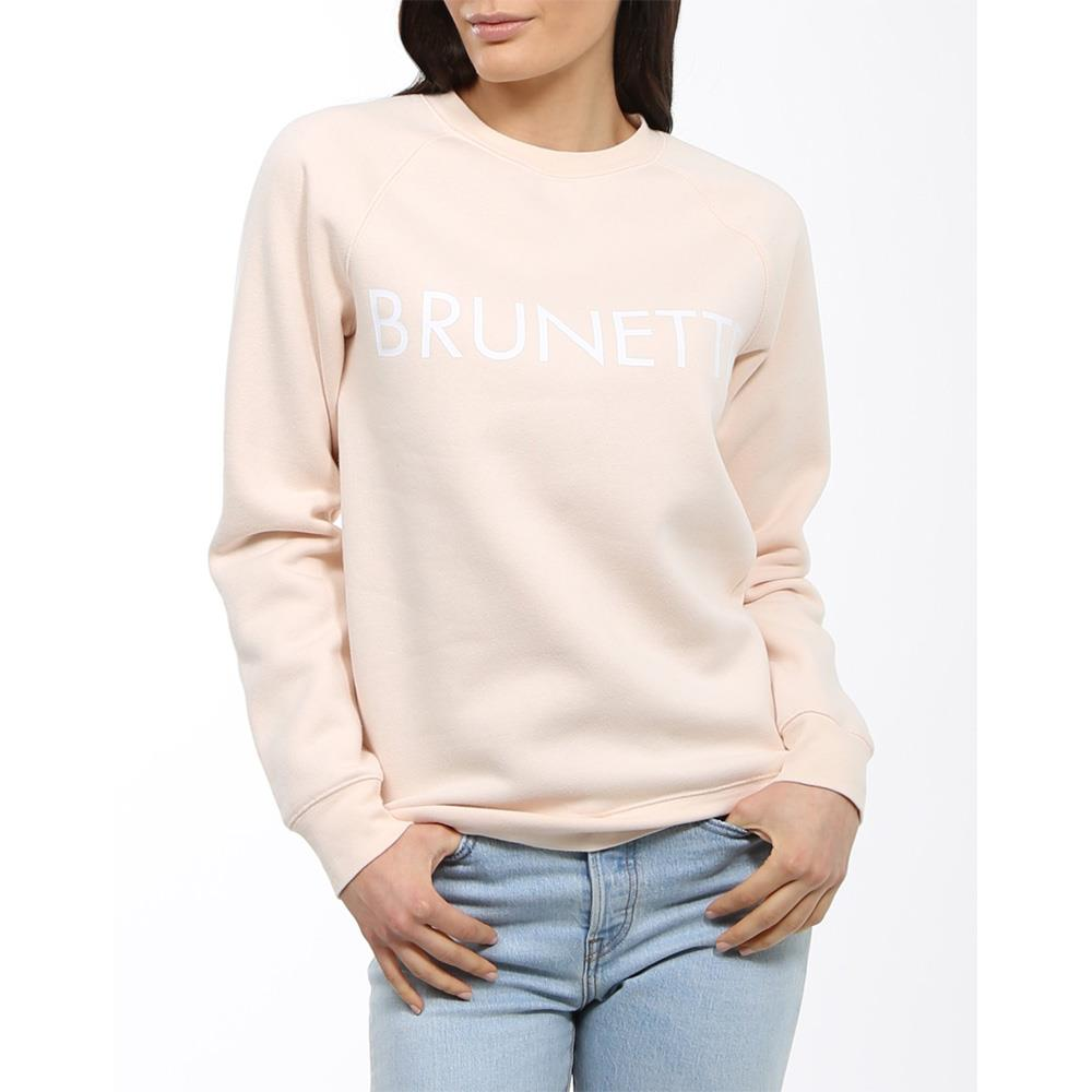 Brunette the label, brunette crew, sweatshirt, womens sweatshirts, peach, BTLF002