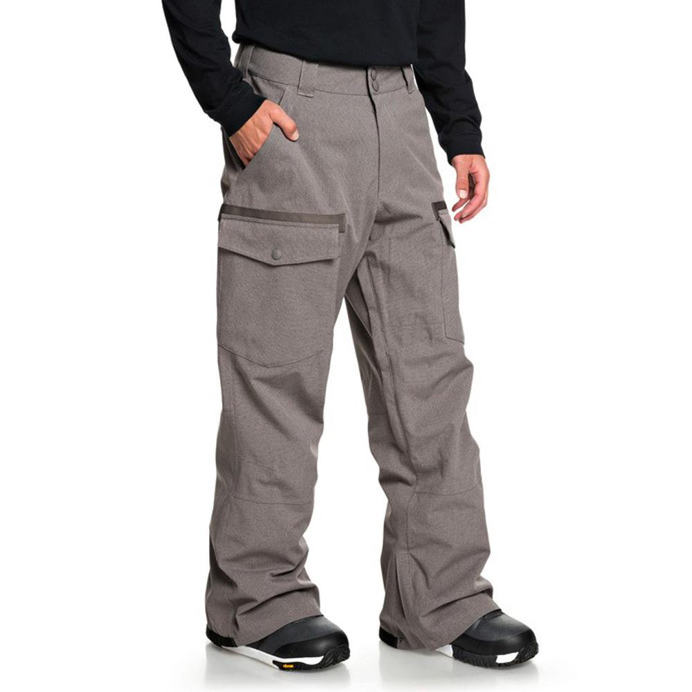 edytp03045-clm0 DC Code Mens Snow Pants dark gull gray side2 view