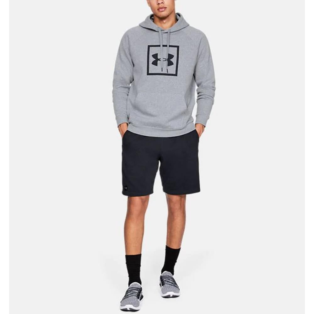 1329745-035, Grey, Steel Light Heather, Rival Fleece Box Hoodie, Mens Pullover Hoodies, Fall 2019