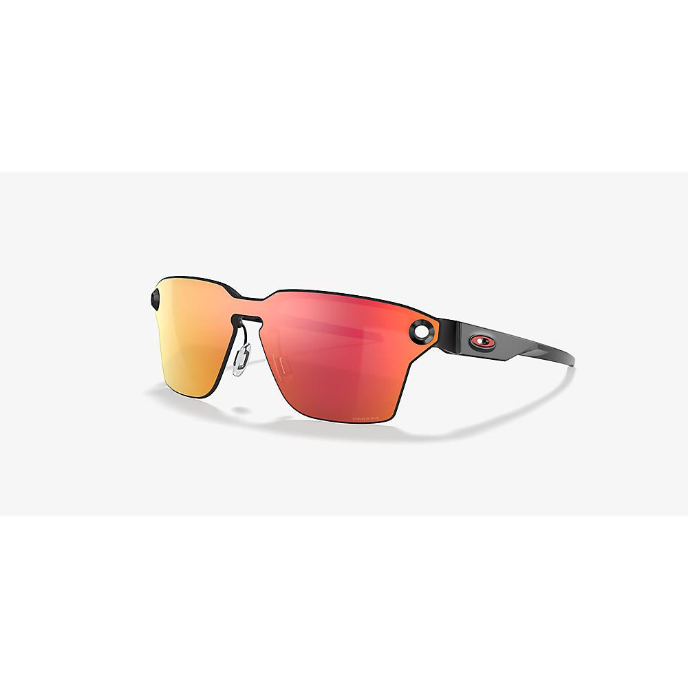 888392465061, OO4139-0439, LUGPLATE POLISHED BLACK WITH PRIZM RUBY, OAKLEY, MENS SUNGLASSES
