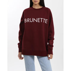 Brunette the label, brunette crew, sweatshirt, womens sweatshirts, burgundy, BTLF002