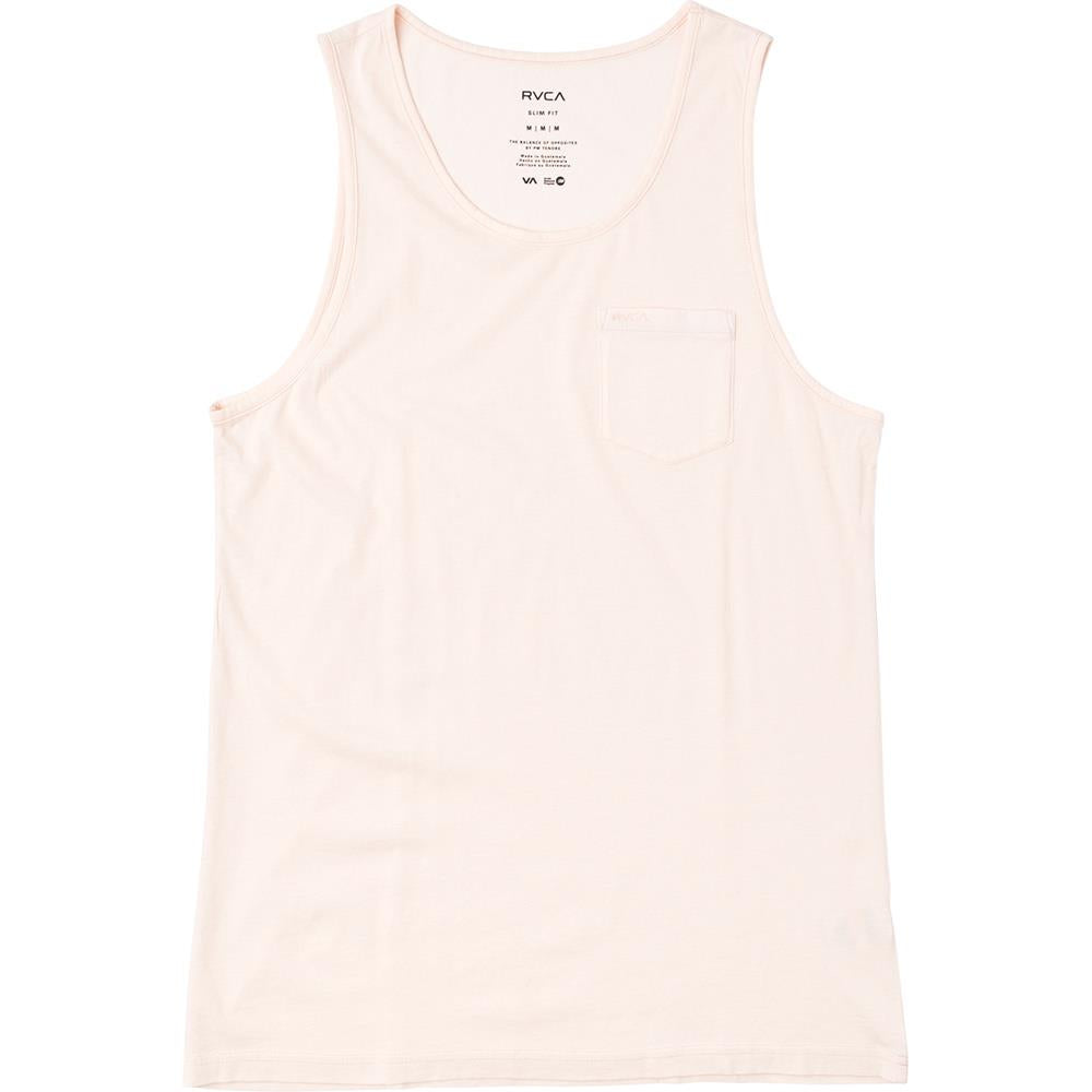 rvca ptc pigment tank front view mens tank tops and jerseys pink