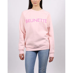 btlf002-BSPNK, BALLET SLIPPER, BRUNETTE CORE CREW, BRUNETTE THE LABEL, WOMENS CREW NECK SWEATSHIRT