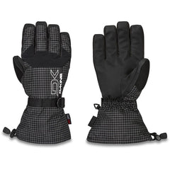 01300250-RINCON, BLACK AND WHITE, SCOUT GLOVE, DAKINE, MENS GLOVES, MENS OUTERWEAR, WINTER 2020