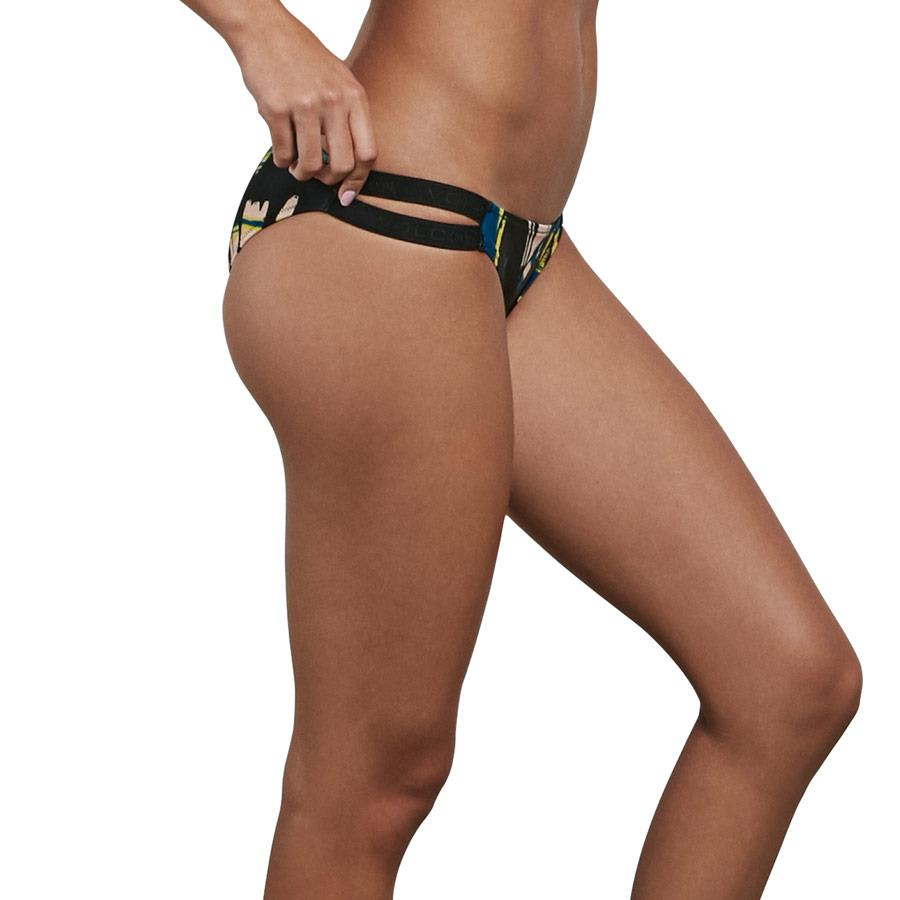 volcom lost marbles hibster side view bikini bottoms black