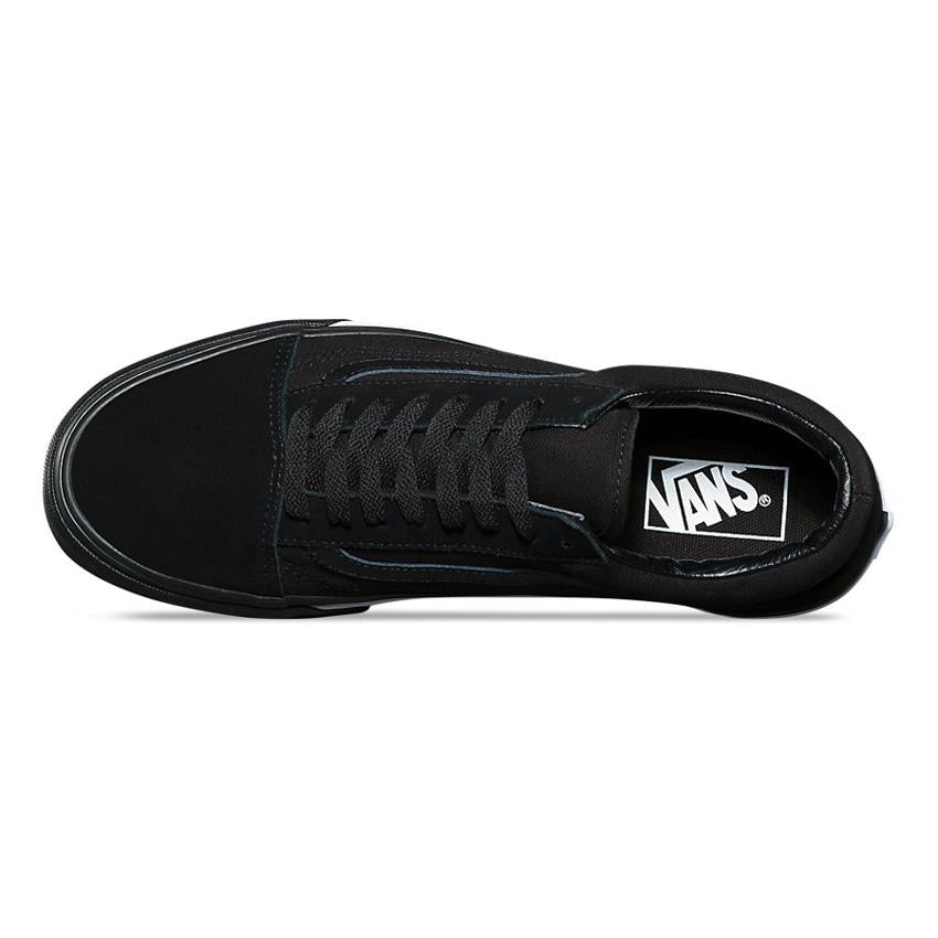 vans old skool mono bumper top view mens skate shoes black vn0a38g1q9c