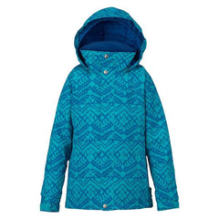 burton eloide jacket girls front view girls snowboard jackets blue 1304510-4402
