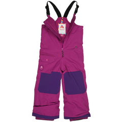 burton minishred maven bib kids front view girls snowpants purple/pink 10352103500