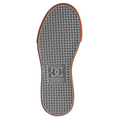 dc pure kids bottom view kids skate shoes gray adbs300267-2gg