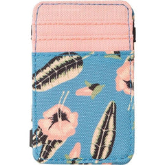 rvca luke magic wallet inside view mens wallets blue/pink mawtnrlm-blu