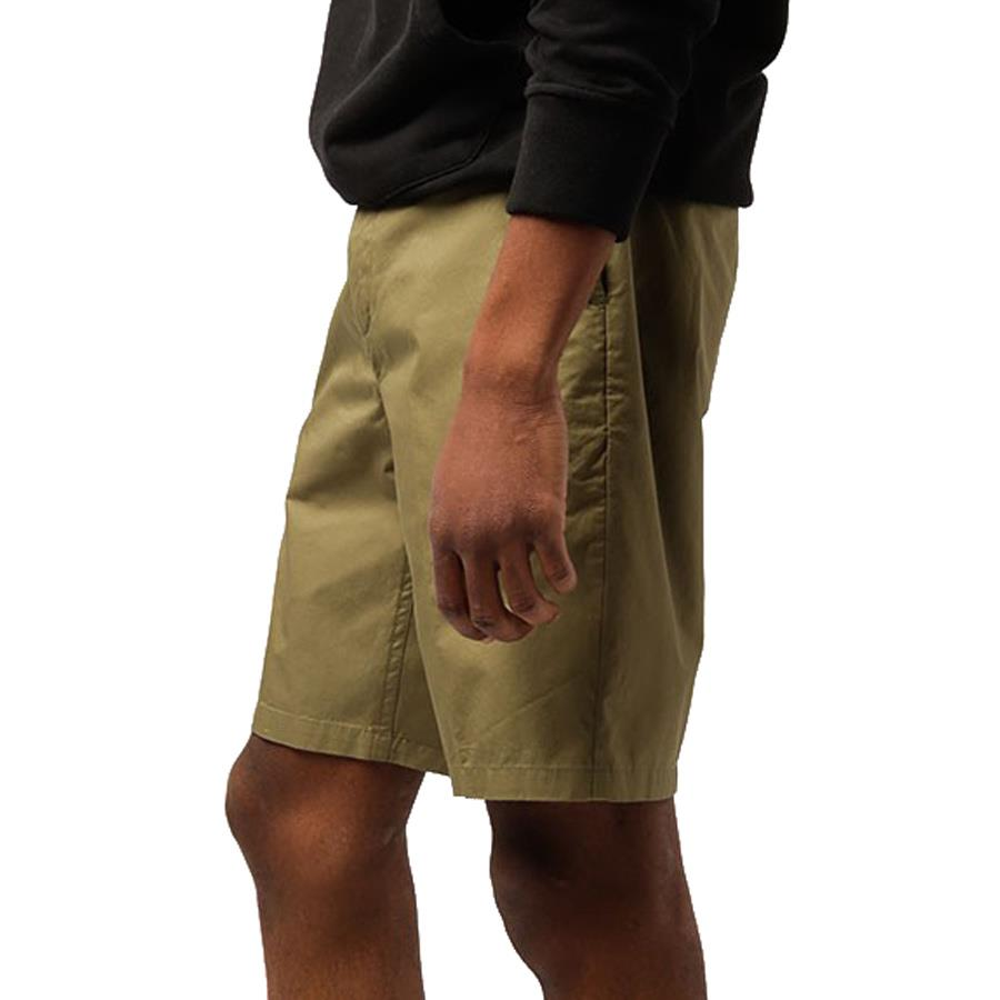 obey Straggler Light Short side view mens shorts military green