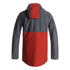 quicksilver Sierra Jacket back view Mens Insulated Snowboard Jacket red/grey eqytj03124-kqp0