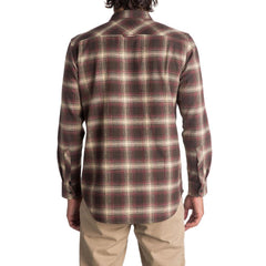 quicksilver Fatherfly back view Mens Button Up Long Sleeve Shirts brown eqwt03616-csd1
