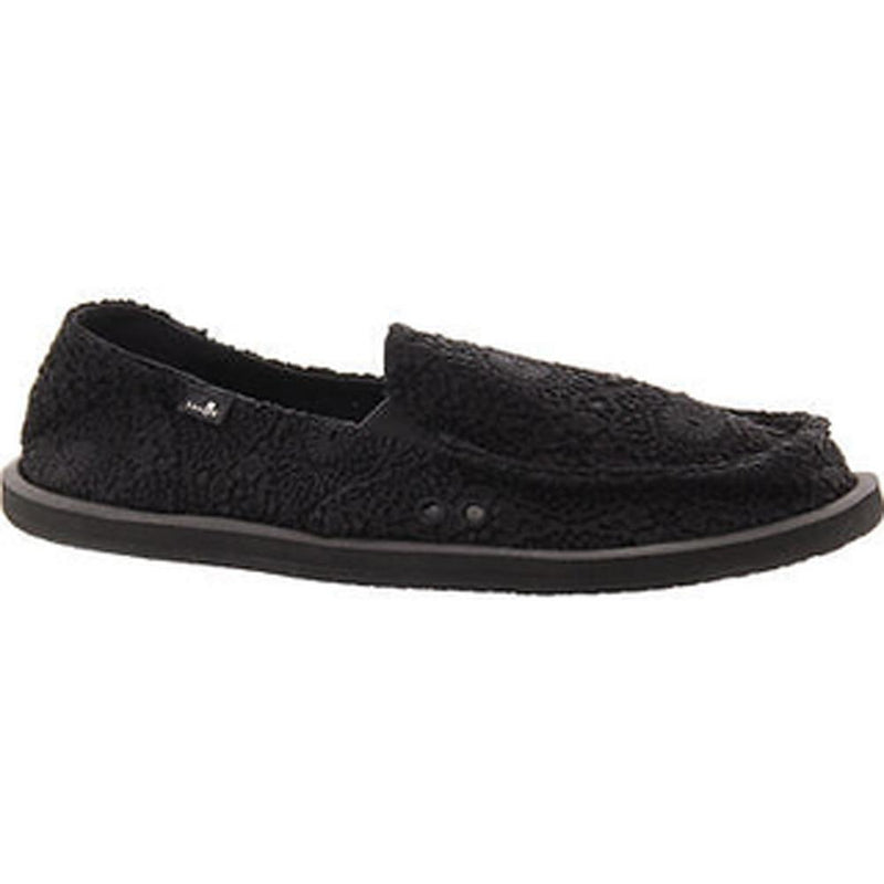 sanuk Donna Crochet side view Womens Slip On Shoes black 1015911-bblc