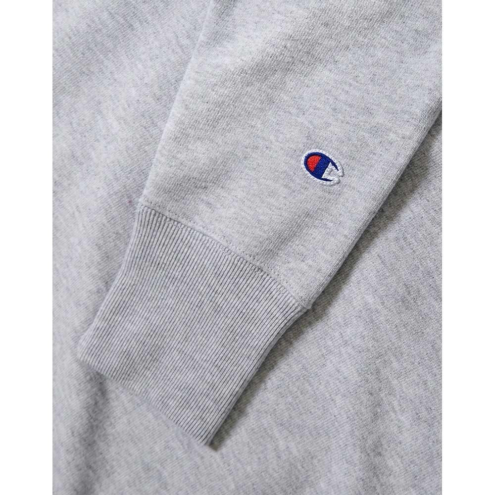 champion RW Crew close-up view Mens Crew Sweaters gre gf70