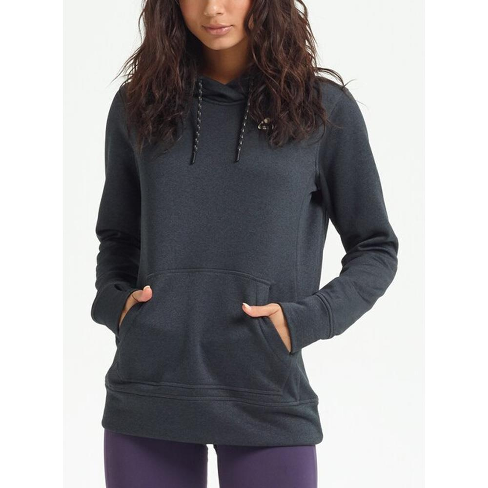 16445108001-True Black Heather, Black, Burton, Oak Pullover Hoodie, Womens Pullover Hoodies, Fall 2019