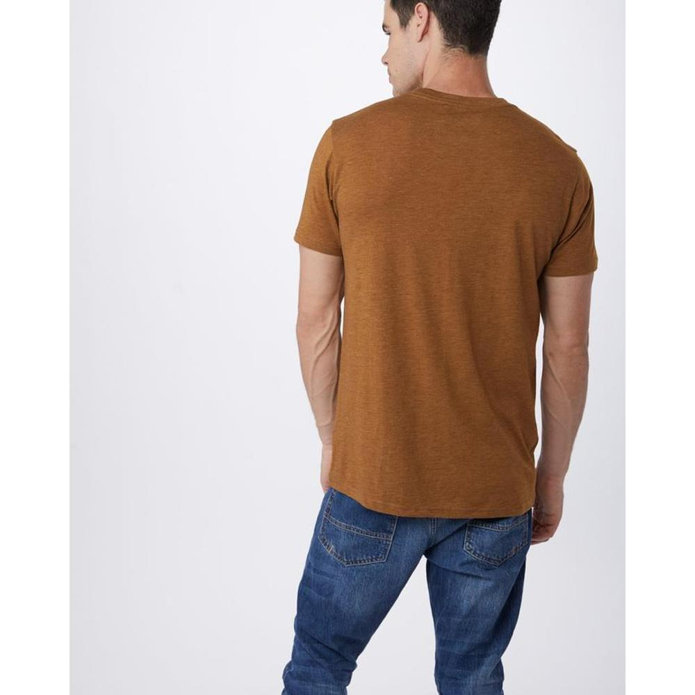 mjsta-brn ten tree stamp ten tee mens t-shirts short sleeve brown