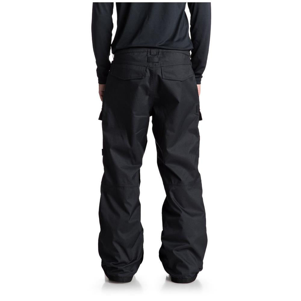 edytp03035-gzf0 dc code snow pant back view mens snowpants dark green