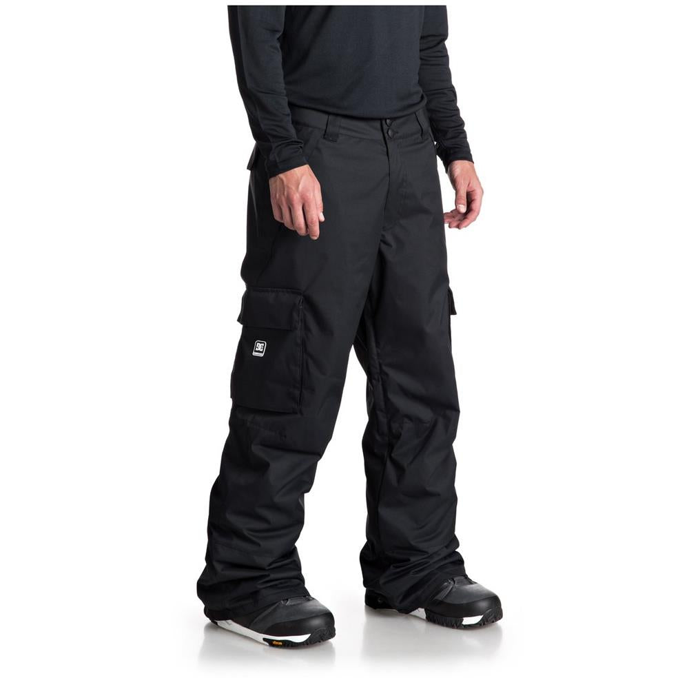 edytp03036 dc banshee snow pant side view mens snow pants black