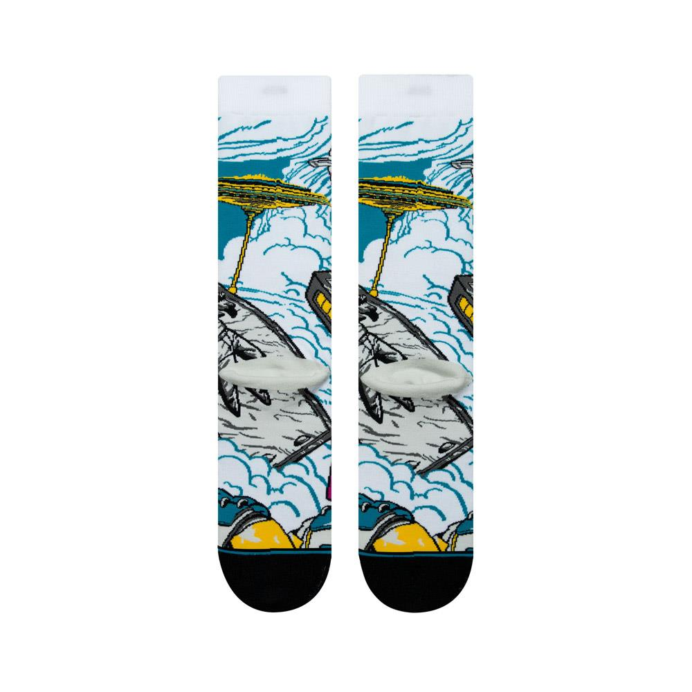 m545d18wab.wht stance wrapped bobba bottom view mens socks white/blue