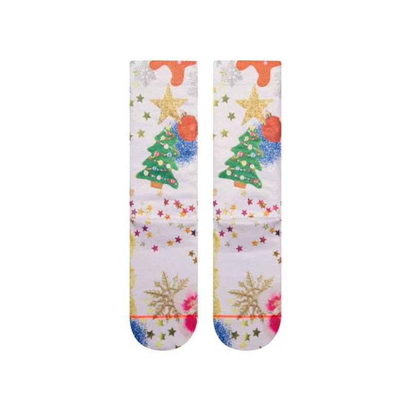 w525d18mrs.wht stance mrs paws bottom view womens socks white multi