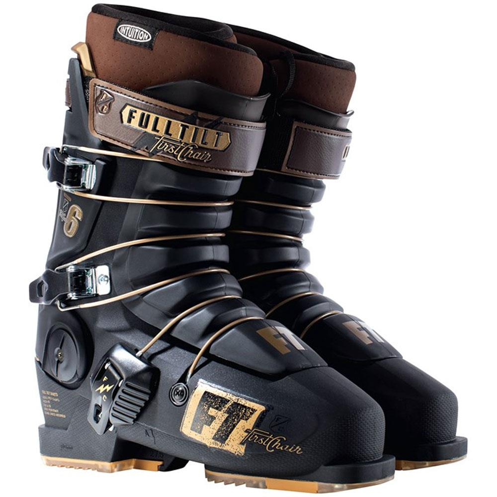 j181600301265 full tilt first chair 6 side view mens boots black/gold