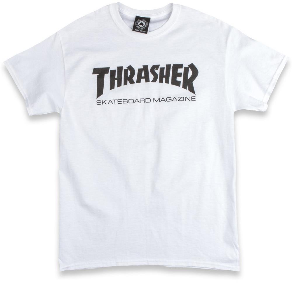 thrasher skate mag tee front view mens t-shirts short sleeve, white