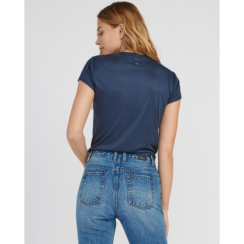 rvca taut knot top back view womens fashion tops blue