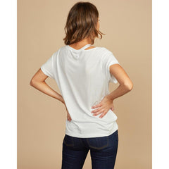 rvca ellis shirt back view womens short sleeve shirts white